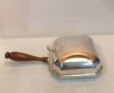 Silverplate Shefield Table Crumb Catcher With Wood Handle Made In USA