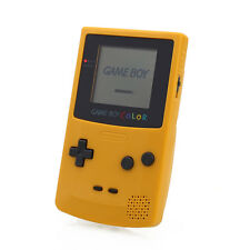 Game Boy Color Clear Yellow Handheld System Consoles For Fun Kids Boys