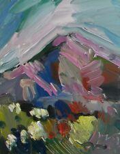 JOSE TRUJILLO ORIGINAL OIL PAINTING Mountain Western Landscape SIGNED FINE ARTS