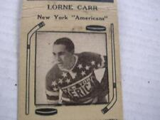 1930's Lorne Carr New York Americans Hockey Diamond Match Co Bobtail Matchcover
