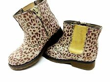 Skechers Kids Low Boots Baby Girls Animal Print  Size 8