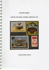(I.B-CK) Cinderella Catalogue : Poster Stamps : Circus, Fun Fairs, Clowns