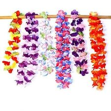 Dazzling Toys Pack of 24 Hawaiian Ruffled Simulated Silk Flower Leis Party Decor