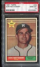 1961 Topps #29 DON NOTTEBART Gem MINT PSA 10! Lowest 10 on ebay! Perfect!