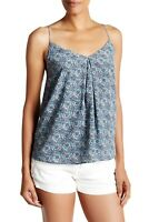 NWT- Joie Nahlah B Sleeveless Printed Silk Top, Haze Blue - Size XSmall