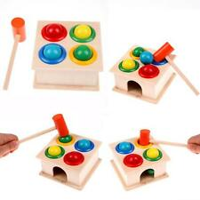 Wooden Ball Early Learning Hammer Game Educational Toy Children Hammering Kids