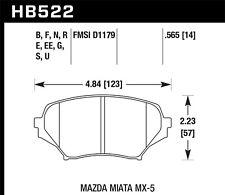 Mazda MX-5 HPS brake pads GT Front Hawk Perf HB522F.565 fits 2006-15 Miata