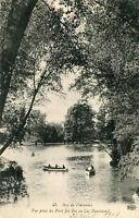 Carte PARIS Bois de Vincennes Vue prise du Pont des Iles au Lac Daumesnil