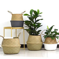Sn _ Herbier Marin Panier Cache-Pot Vase Fleur Rangement de Maison Support Sac