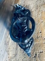 Unique Antique Cast Iron Door Knocker Gothic Vintage Victorian Ornate Bronze