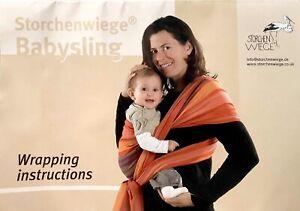 NEW Storchenwiege Anna 3.6 m Wraparound Babysling Carrier (open bag)