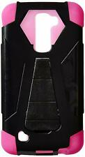 HR Wireless Cell Phone Case for LG K10 Black/Hot Pink