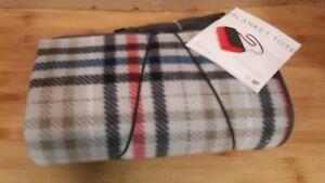 Blanket Tote Outdoor Picnic Blanket water resistant polyester fleece topside