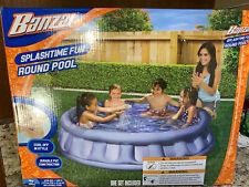 "New listing Banzai Splashtime Fun Inflatable Round Pool 62"" New-No Box Discounted Shipping"
