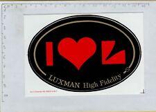 ADESIVO STICKER VINTAGE  I LOVE L LUXMAN HIGH FIDELITY