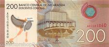 Nicaragua 200 Cordobas 2015 Unc pn 212