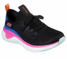 Walking Skechers Black Shoes Memory Foam Women Sport Comfort Train Slip On 13325