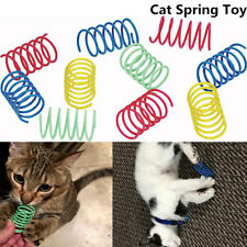 10Pcs Ethical Pet Spot Colorful Plastic Springs Thin Long Spiral Cat Toy CA