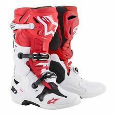 Alpinestars Tech 10 Motocross MX Dirt Bike Boot Red White Black  (Size 10 )