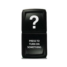 CH4X4 Rocker Switch V2 Press to Turn ON Something Symbol - While Led