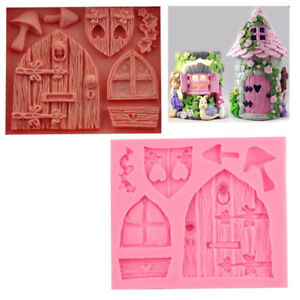 3D Fairy House Door Silicone Fondant Mould Cake Decorating Tool Chocolate Molds