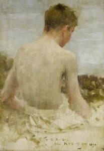 Henry Scott Tuke Back of a boy bather Giclee Art Paper Print Poster Reproduction