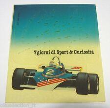 ADESIVO ORIGINALE anni '80 / Old Sticker FORMULA 1 (cm 10 x 12)