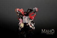 JAPANESE style kanzashi HAIR CLAW CLIP real kimono in acrylic Butterfly BLACK