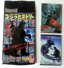 ORIGINAL BANDAI 2 PC MAGNET SET GODZILLA VS MECHA 1993 GODZILLA VS MECHA 2002