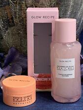 🌸Glow Recipe Watermelon Glow Pore-Tight Toner 40ml & Papaya Cleansing Balm 10ml