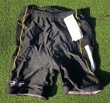 Zoot sports Men's Xl Tri Shorts Black Citron Padded Swim Bike Run Triathlon