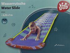 Kinder Wasserrutsche Wasserbahn - 6,15m x 1m (lxb) - mit sprühenden Wasserdüsen