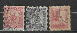 HUNGARY STAMPS- War charity, set of 3, 1916 U#