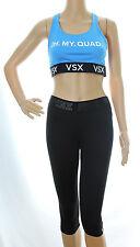 Victoria's Secret VSX Sports Bra PINK Ultimate Yoga Crop Capris Lot M