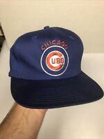Vintage Chicago Cubs Snapback Baseball Hat Cap Twins Enterprise Mens Adult
