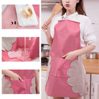 Women Cooking Chef Kitchen Home Restaurant Bib Aprons Dress With Pocket Gift