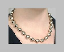 "TWO (2)  Chokers 12mm BALL CHAIN NECKLACES 18"" ~ GOTH ~ SILVER Steel Metal Beads"