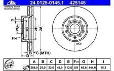 ATE Juego de 2 discos freno Antes 288mm ventilado para SEAT RENAULT
