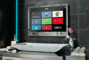 "22""  2021 ANDRIOD SARASON Waterproof Bathroom LED SMART Mirror TV Rs232 Function"