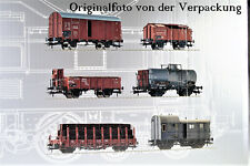 Roco  H0 51323 / 6-teiliges Güterwaggonset DRG Ep II  / NEU + OVP