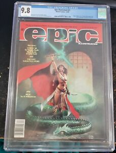 EPIC ILLUSTRATED 27 CGC 9.8 GROO THE WANDERER PREVIEW CALDWELL COVER