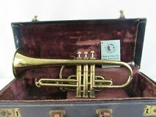 Vintage Continental Colonial USA Music Cornet with Working Valves & Case