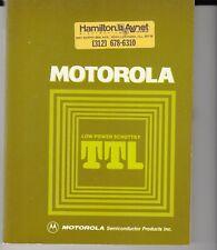 Motorola Low Power Schottky Ttl Data Book - 1977 Edition