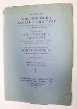 ROBERT CLUETT, JR Property, ANDERSON  GALLERIES, NY, 1932 Catalog #3980