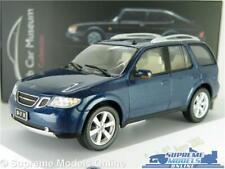 SAAB 97 9-7 X AERO MODEL CAR BLUE MUSEUM 2005 1:43 SCALE IXO ATLAS 3898028 K8
