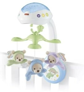 Fisher-Price Butterfly Dreams 3-in-1 Projection Mobile Crib Toy Boxed Mint New