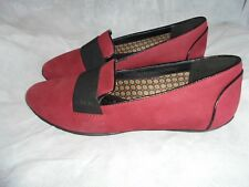 GEOX RESPIRA WOMENS SMART RED LEATHER SLIP ON CASUAL SHOES SIZE UK 5 EU 38 NWOT