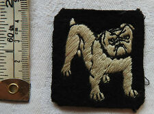 Original Military WWII Eastern Command Bulldog Cloth Formation Badge (3320)