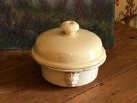 French Vintage Foie Gras Provence Yellow Container Terrine