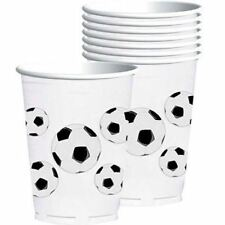 8pk Football Fan Plastic Cup 414ml Soccer Championship Sport Birthday Party